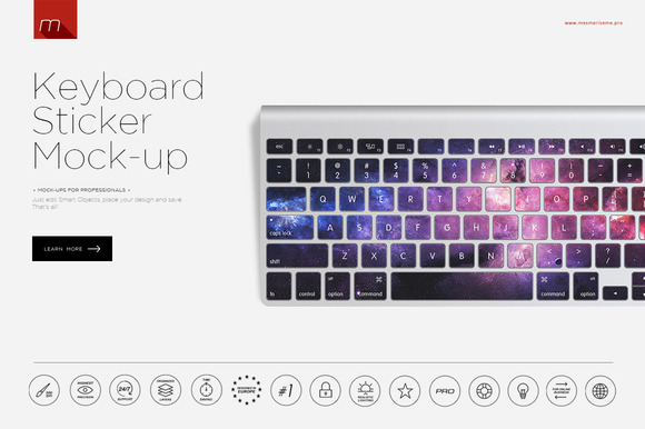 Keyboard Sticker Mock-up
