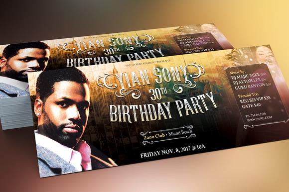 make birthday flyers