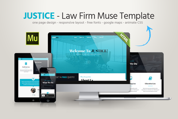 Justice Law Firm Muse Template