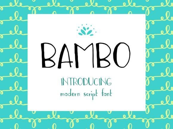 BAMBO Font