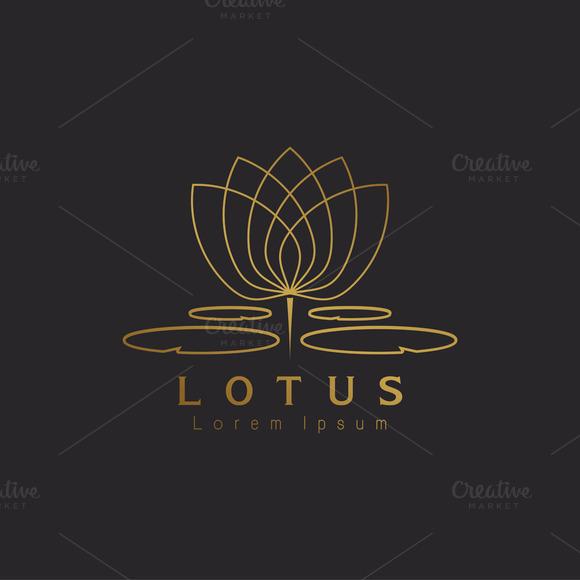template lotus flower logo 187 logotirecom