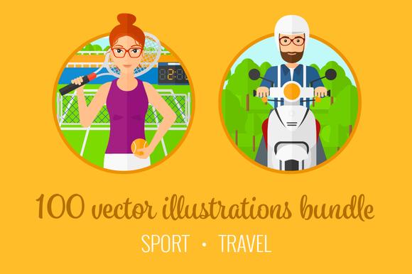 Sport And Travel Illustration Bundle