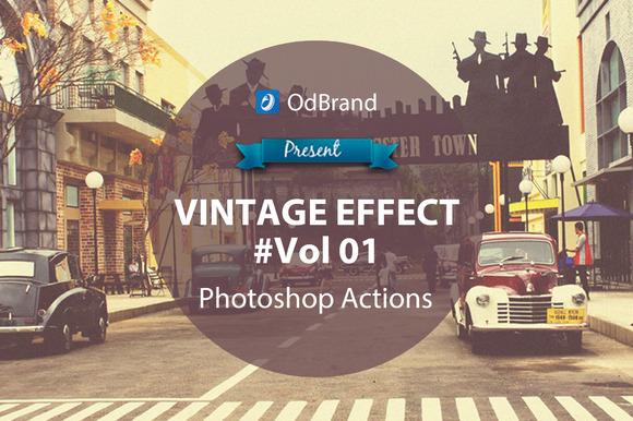 Vintage Effect Photoshop Action V01