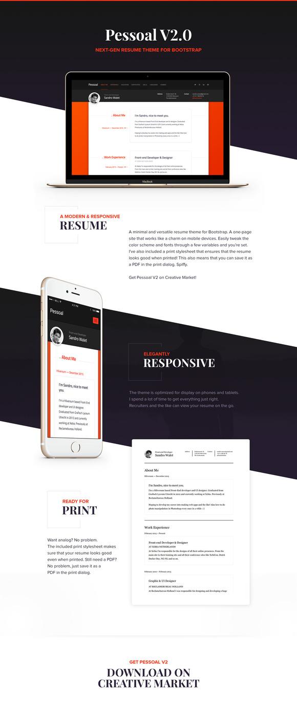 Pessoal Modern Resume Theme