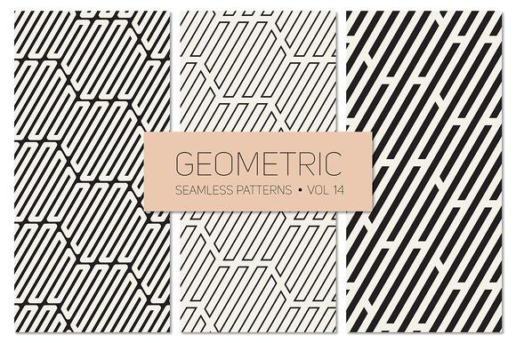 Geometric Seamless Patterns Set 14