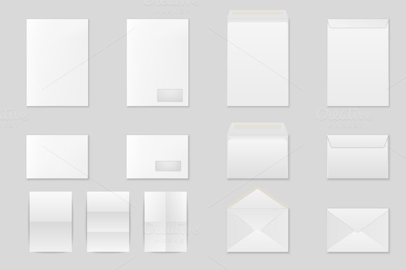 Envelopes And Folded Paper Sheets