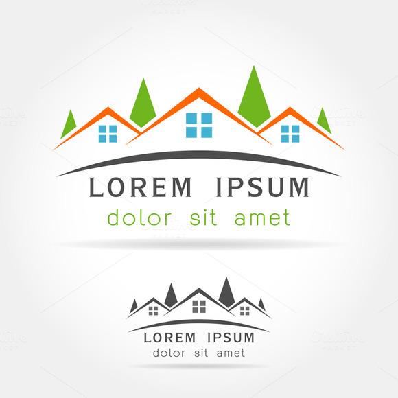 Template Logo House As Building