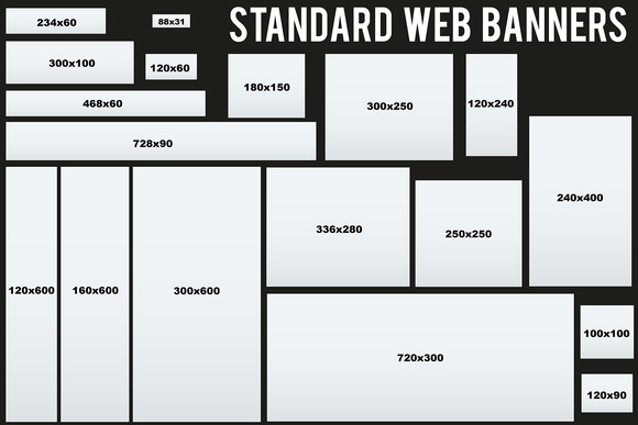 Standard Size Web Banners Templates