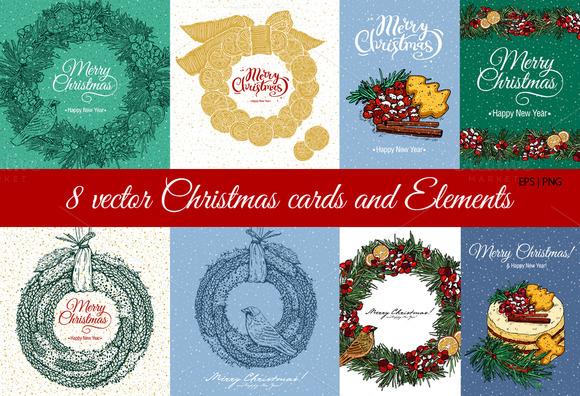 8 Christmas Cards