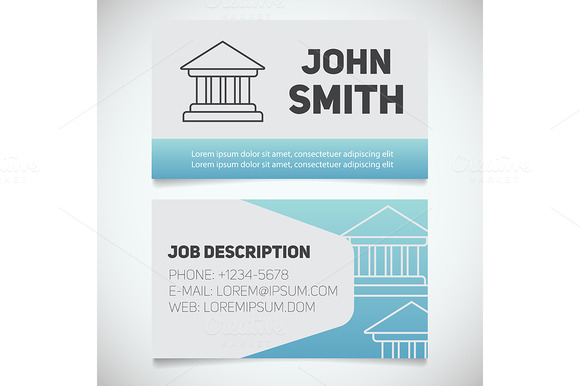 Business Card Print Template Vector