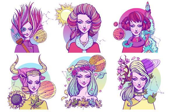 Zodiac Signs Pastel Goth