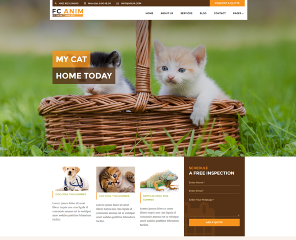 FC ANIM Animal Website Template
