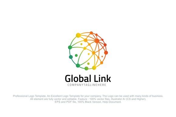 Global Link Colorful Dot Globe