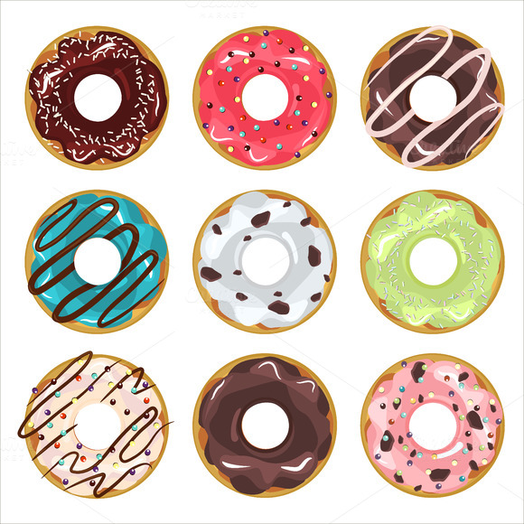 Donut Vector Set
