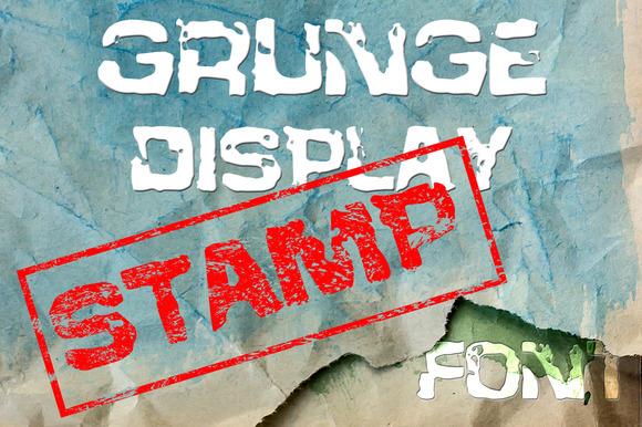 Grunge Stamp Formal Font