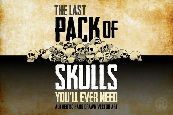 63 Hand-Drawn Skulls Bonus Skulls