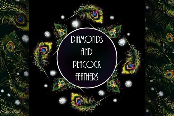 Diamonds In Peacock Feathers
