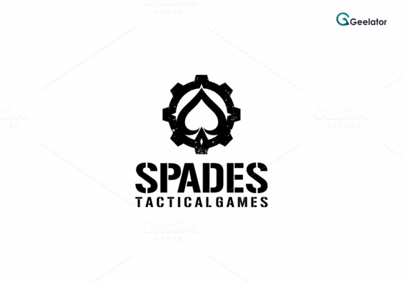 Spades Tactical Games Logo Template