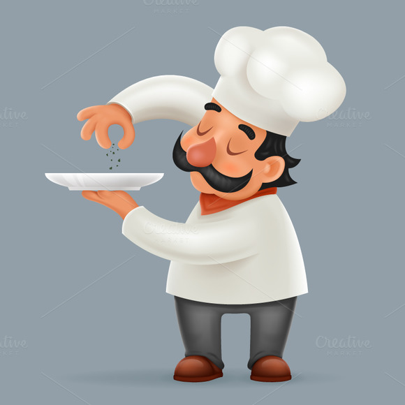 Illustrator Cs6 Character Design : Chef uniforms mock up designtube creative design content