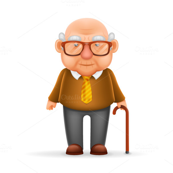 Character Design Old Man : Stock graphic old man grandfather logotire