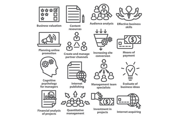 Business Management Icons Pack 09