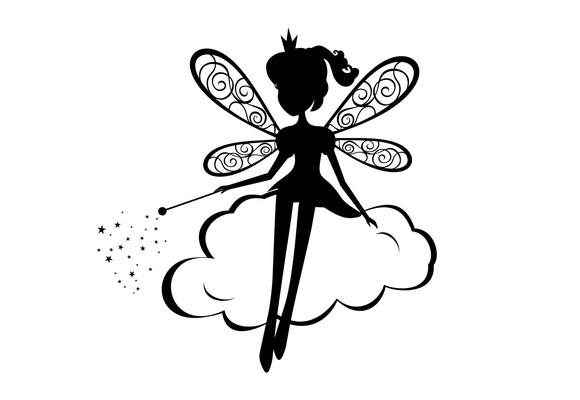 Fairy Silhouette Vector Illustration