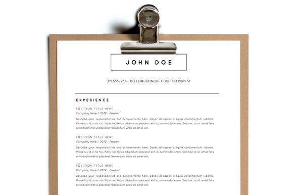 Simple Resume Template Design 8