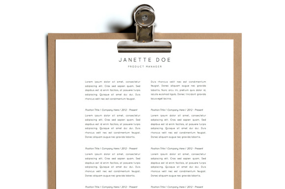 Simple Resume Template Design 13