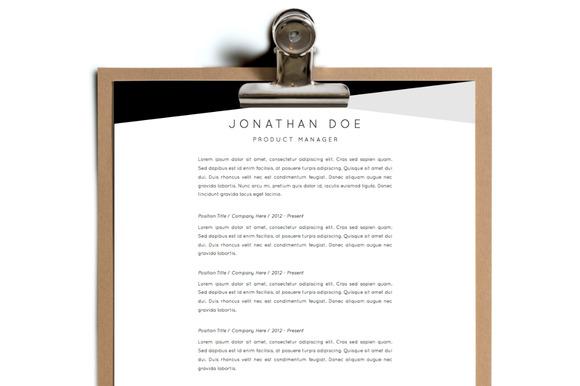 Simple Resume Template Design 17