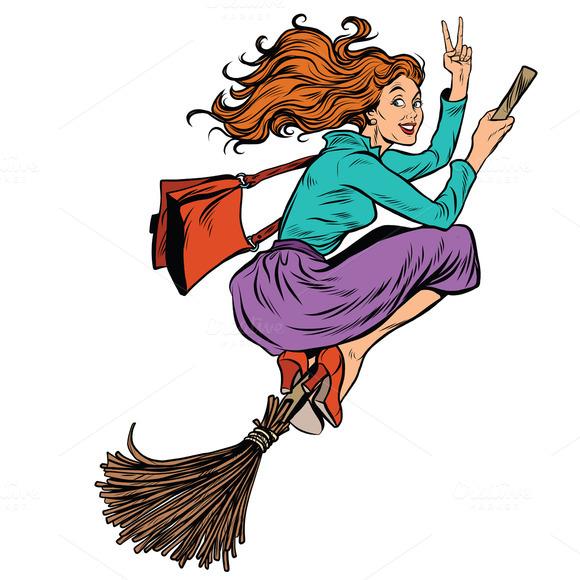 Emoji Of Witch Witch On Broom  U00bb Designtube