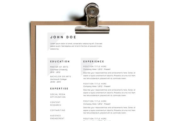 Simple Resume Template Design 19