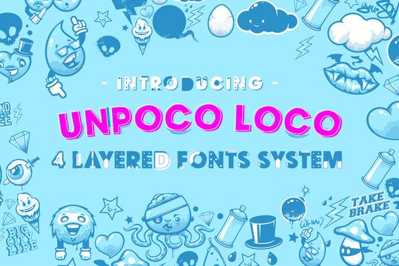 Unpoco Loco 4 Layered Fonts
