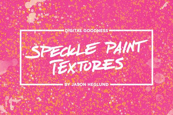 Speckle Paint Textures