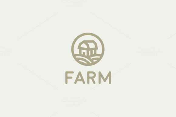 Natural Farm Organic Vector Logo