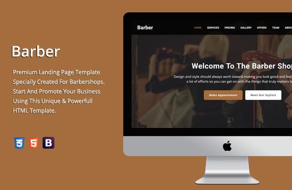 Barber Premium HTML Template
