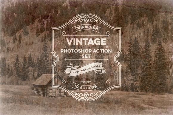 Vintage Effect Photoshop Action Set