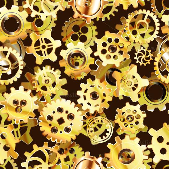 Clockwork Mechanism Seamless Pattern