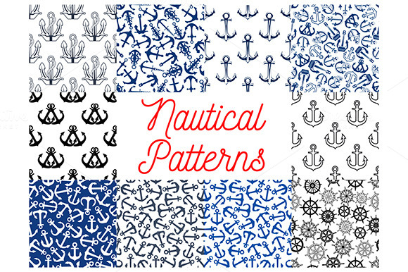 Nautical Anchor And Helms Patterns