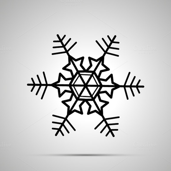 Simple Black Snowflake Icon