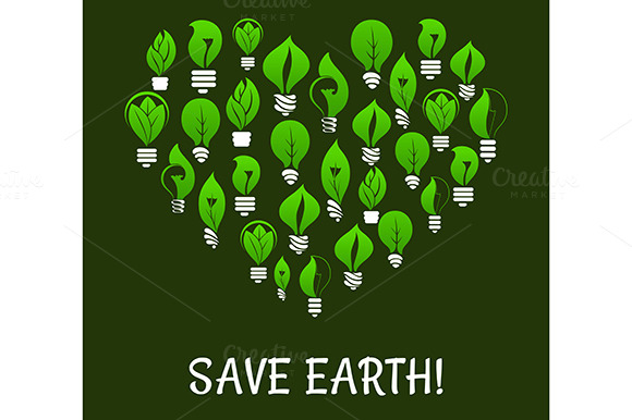 Save Earth Energy Saving Placard