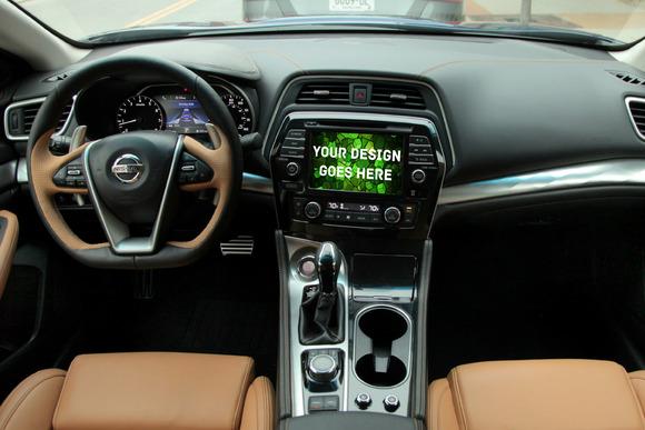Car Tablet Navi Display Mock-up#7