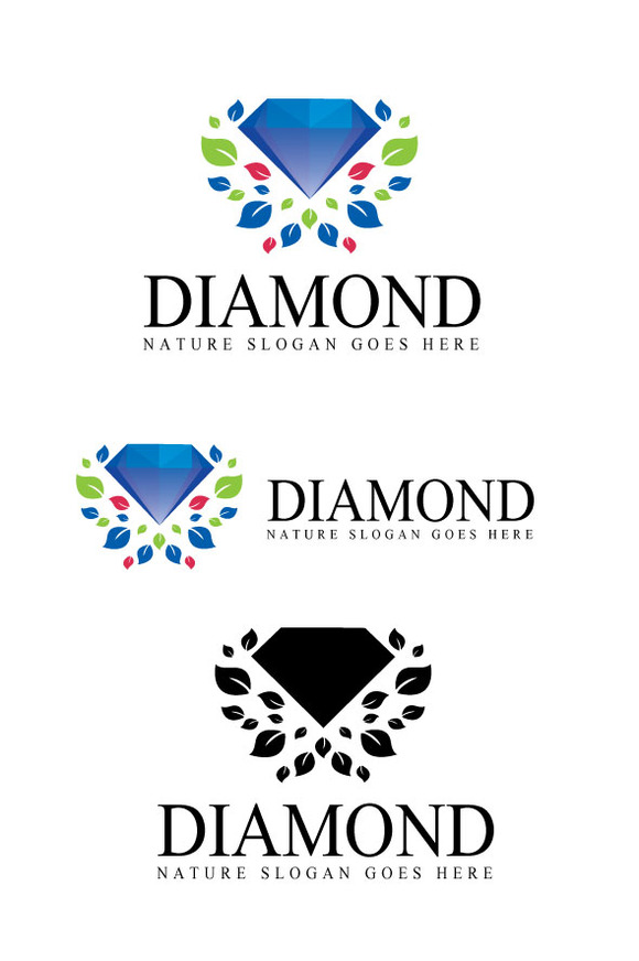 jeweler with blue diamond shaped logo 187 designtube