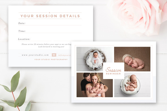 Newborn Session Reminder Card