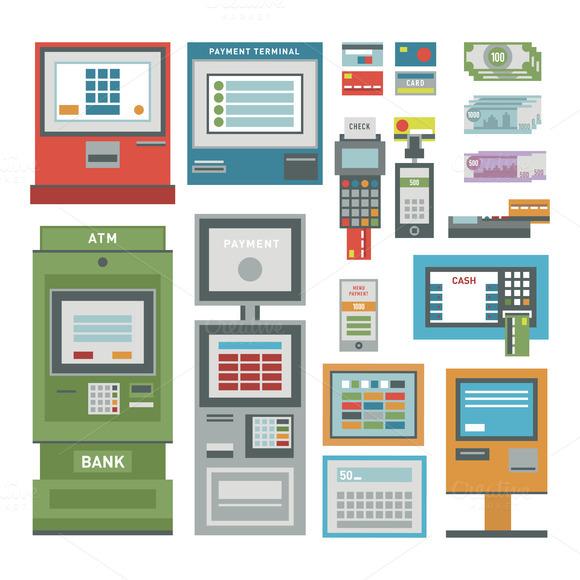 ATM Pos-terminal Vector Set