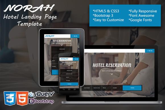 Norah Hotel Landing Page Template