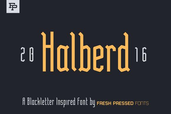Halberd Display Font