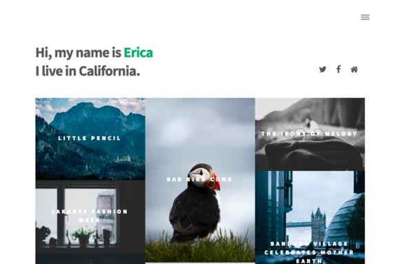 Erica Blog Ghost Theme