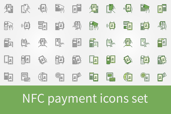 NFC Payment Icons Set