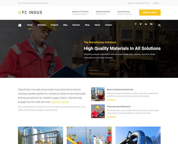 FC INDUS Industrial Template