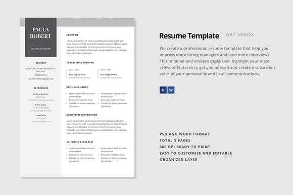 Resume Template Canopus